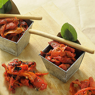 Marinated Roasted Red Pepper Strips - 01
