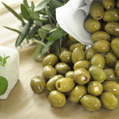 Green Olives Stuffed with Feta Cheese (in oil) - 01