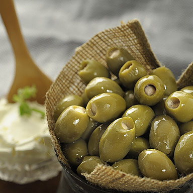 Green Olives Stuffed with Cream Cheese (in oil) - 01