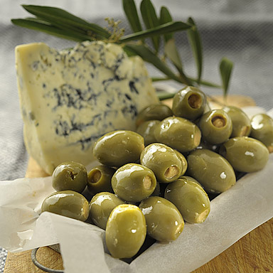 Green Olives Stuffed with Blue Cheese (in oil) - 01