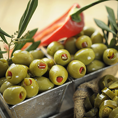 Green Olives Stuffed with Red Pepper & Jalapeños - 01