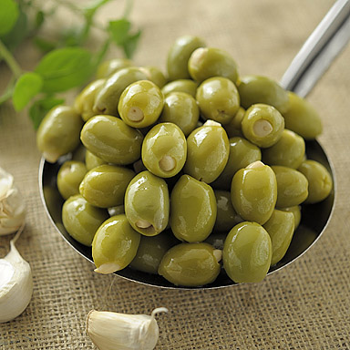 Green Olives Stuffed with Garlic - 01