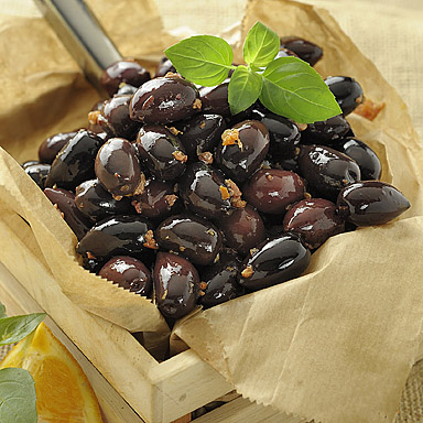 Kalamata Variety Pitted Olives with Orange & Honey - 01
