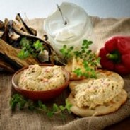 Greek Yogurt Spread - Roasted Eggplant & Red Pepper