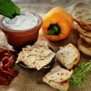Greek Yogurt Spread - Roasted Peppers & Sundried Tomato