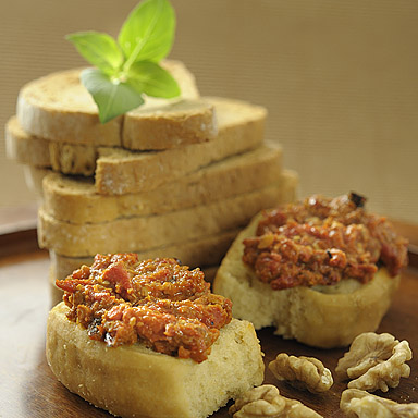 Roasted Red Pepper & Walnut Spread - 01