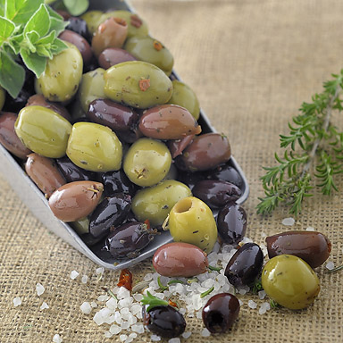 Kalamata & Green Pitted Olives with Herbs - 01