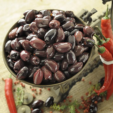 Kalamata Variety Pitted Olives with Chilli