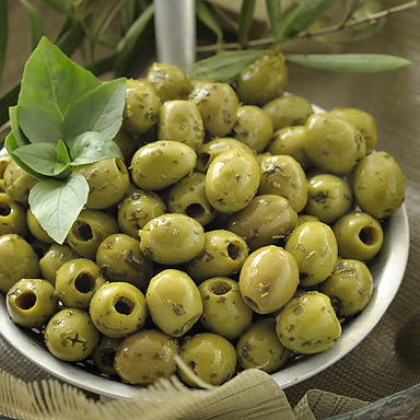 Green Pitted Olives with Herbs - 01