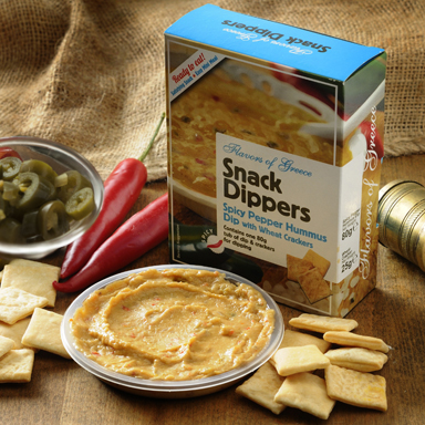 Spicy Pepper Hummus + Wheat Crackers - 01