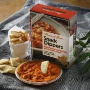 Red Pepper & Feta Dip + Rosemary Crackers