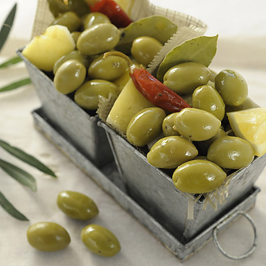 Organic Green Olives with Lemon - 01