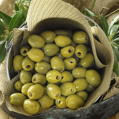 Organic Green Pitted Olives