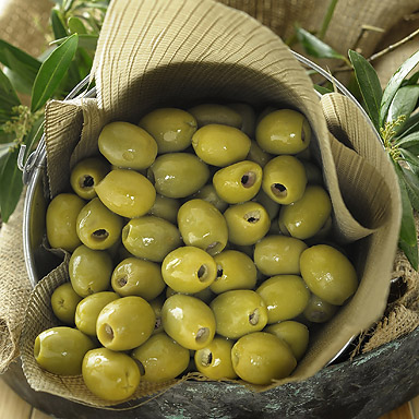 Organic Green Pitted Olives - 01