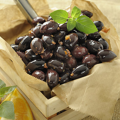 Organic Kalamata Variety Olives with Orange & Honey - 01